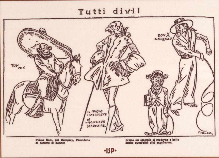 03 Guerin Meschino 1928. Da sinistra Lanfranconi Da Verona Benelli e Pirandello. Manca 1
