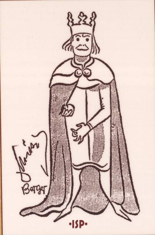 07 Caricatura di Alexander Moissi nei panni di Enrico IV Berlino 1925. 1