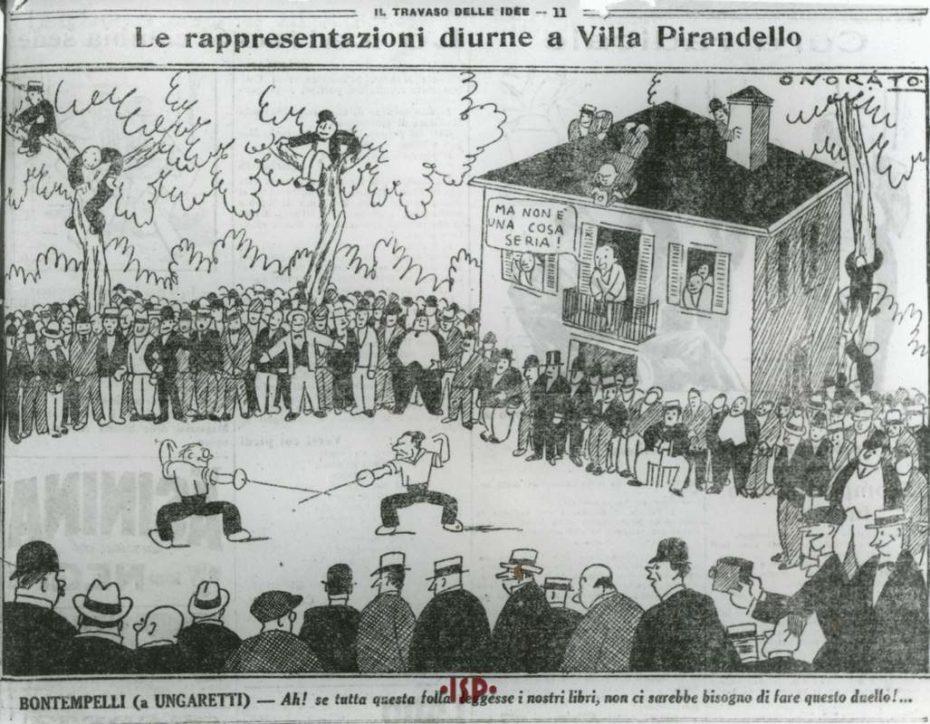 11 Duello tra Bontempelli e Ungaretti nel giardino della casa di Pirandello 1926. 1