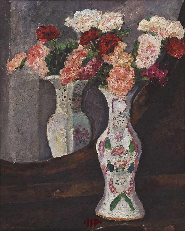 11 Vaso di fiori olio su tela opera di Pasquarosa settembre 1925.