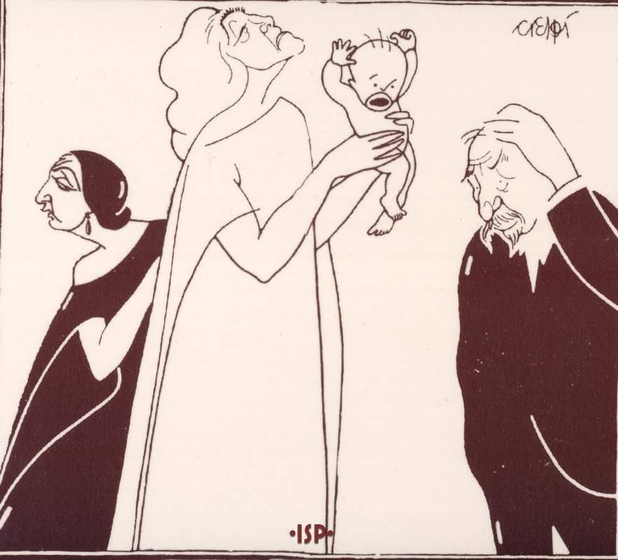 15 Comoedia 1924. Pirandello davanti a Alda Borelli in La vita che ti diedi. Crespi 1