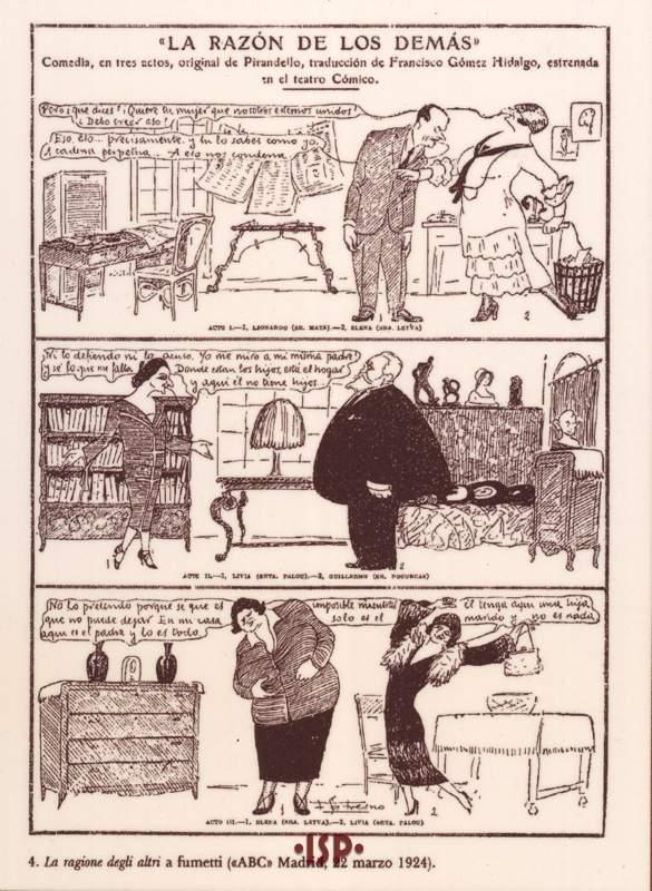 16 Rivista ABC 1924. Tre scene da La ragione degli altri rappresentata a Madrid. 1