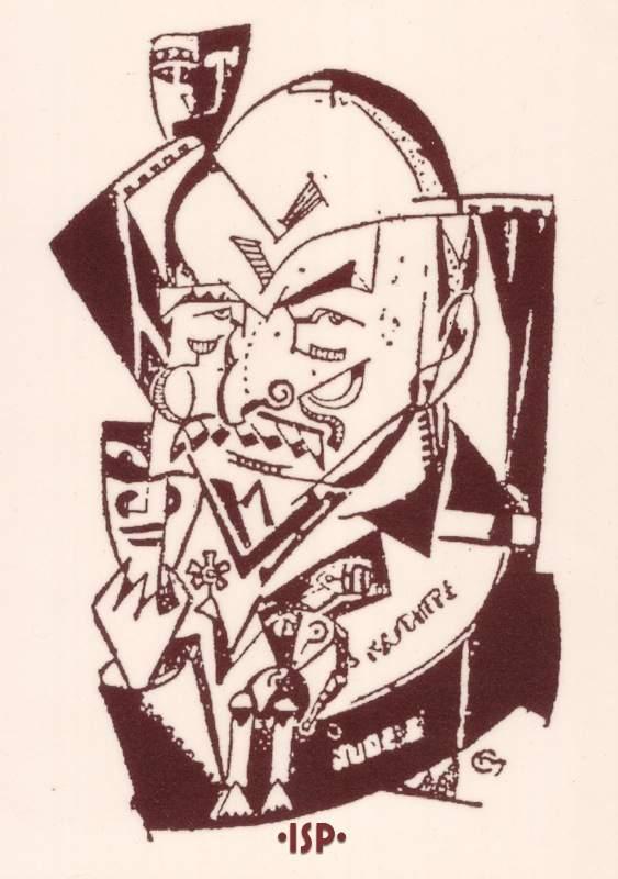 18 Almanacco Letterario. Disegno probabilmente di Carlos Mastronardi pubblicato in Martin Fierro Buenos Aires 1927. 1