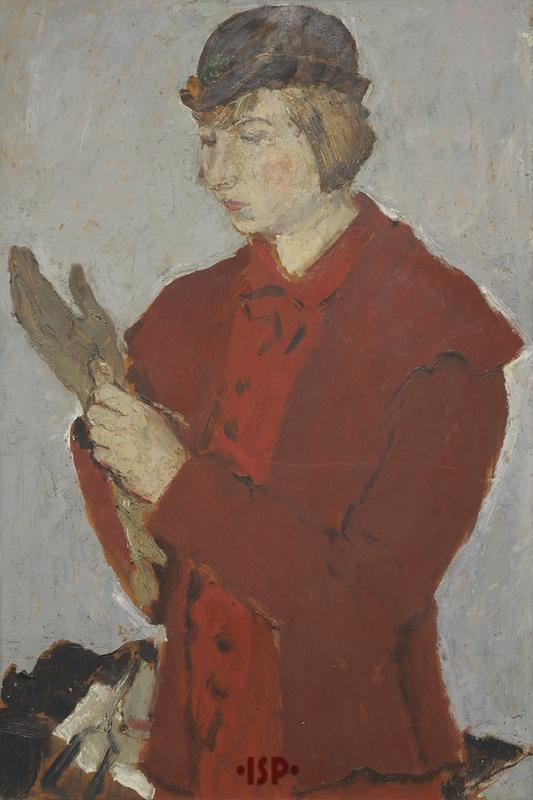 3 Ritratto di Lietta olio su tavola opera di Fausto Pirandello 1930 1931