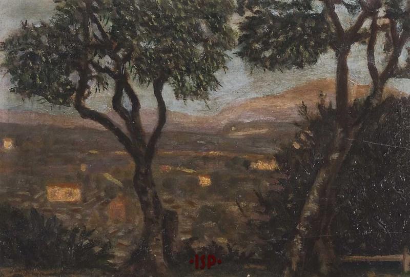 9 Olio su tavola opera di Luigi Pirandello senza titolo.