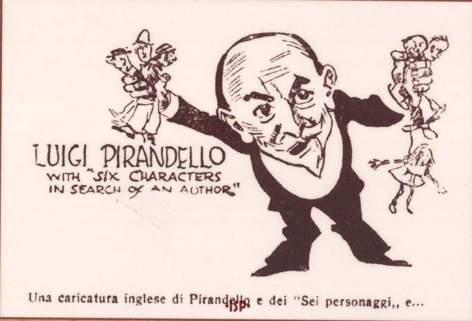 Almanacco Letterario 1926 Caricatura di Properzi 1