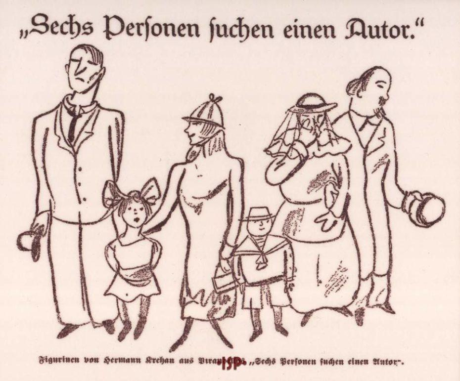 Giornale tedesco Caricatura di Hermann Krehan 1