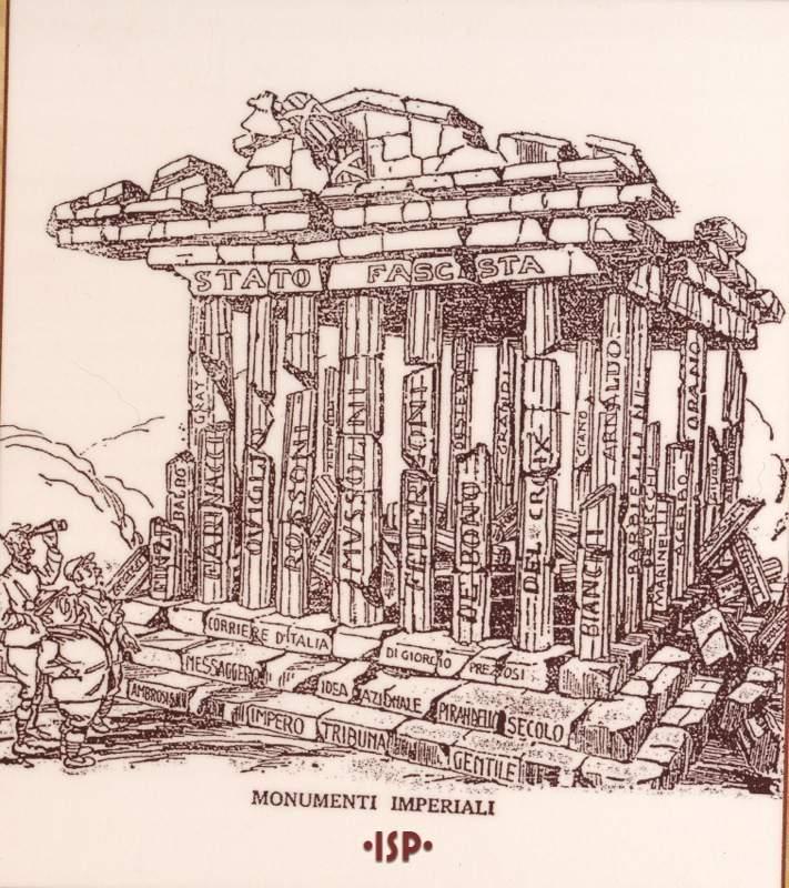Il becco giallo 1924 Nel disegno si riconoscono da sinistra Giolitti Facta e Salandra Russo 1