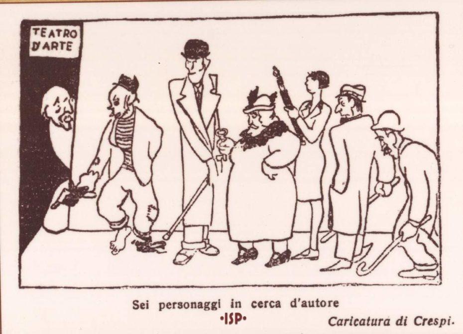 Il becco giallo poi ripresa da Almanacco Letterario 1926 Caricatura di Crespi 1