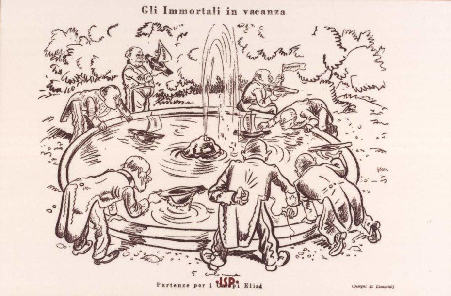 Italia Letteraria 1930 Oltre a Pirandello si riconoscono da sinistra Marinetti e Panzini Camerini 1