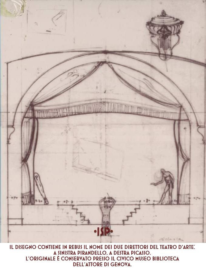 Progetto dell architetto Virgilio Marchi per il boccascena del Teatro Odescalchi 1924 1