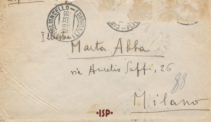 12 settembre 1933 busta