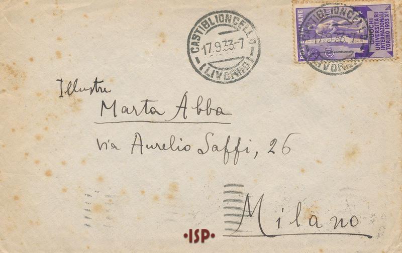 16 settembre 1933 busta