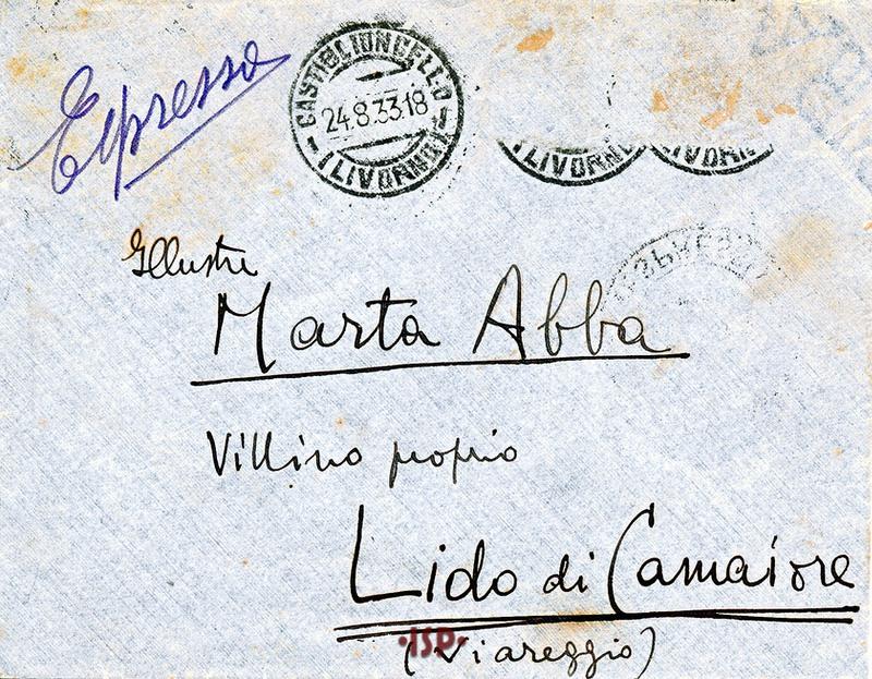 24 agosto 1933 busta