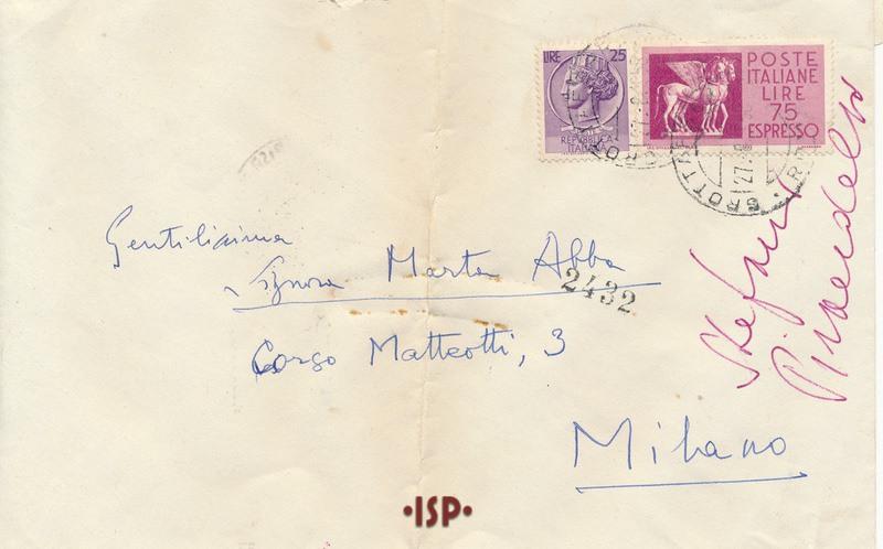 25 agosto 1958 busta