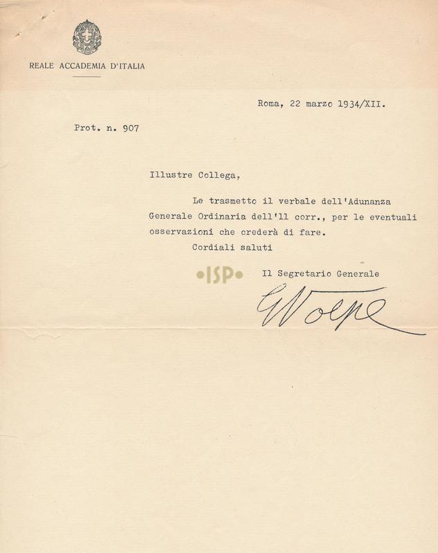 13 Volpe 22 marzo 1934