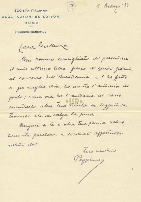 23 De Rossi 9 marzo 1933