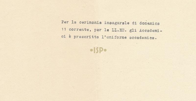 37 Allegato Invito Inaugurazione anno accademico 6 novembre 1934