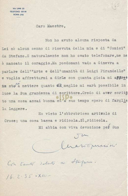 39 Puccini 16 febbraio 1935