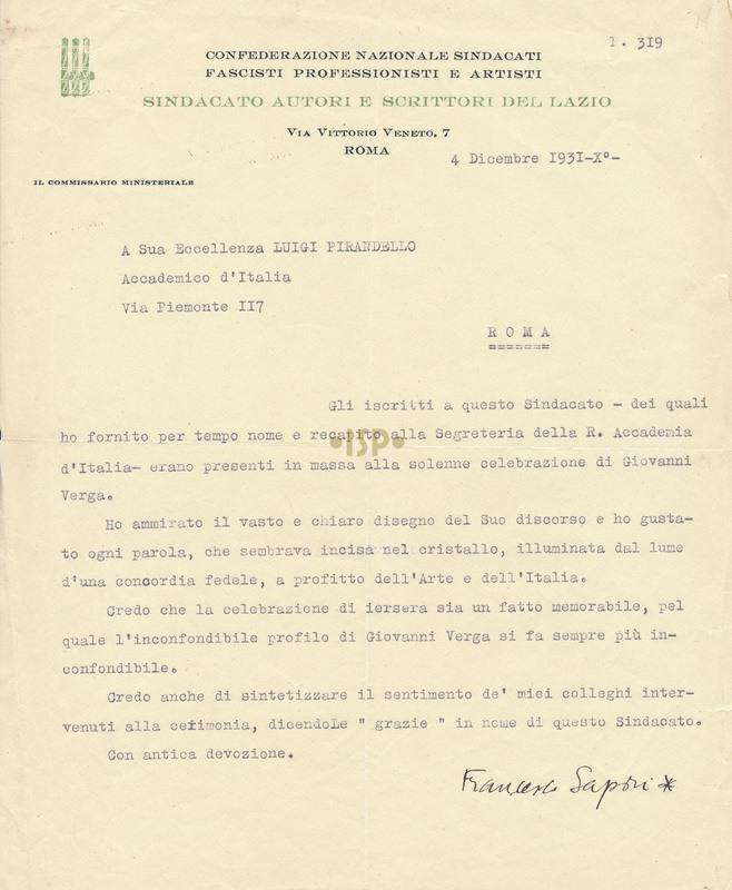 45 Sapori 4 dicembre 1931
