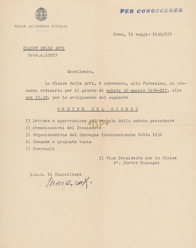 74 Mascagni Marpicati 19 maggio 1936